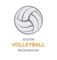 Volleyball gray background vector image