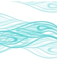 Abstract hand drawn  decotative waves background vector image