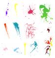 splash set vector image vector image