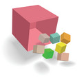 abstract cubes design vector image