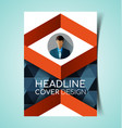 abstract report cover12 vector image