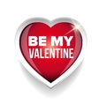 Be my Valentine heart vector image