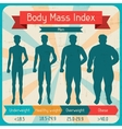 Body mass index retro poster vector image
