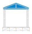 Color flat design sectional concert metal stage vector image