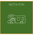of camping symbol on camper vector image
