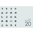 Set of windsurfing icons vector image