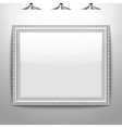 silver frame picture vector image