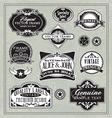 vintage labels frames design elements vector image