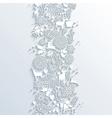 White Christmas season 3d banner seamless pattern vector image