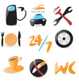 Smooth car service icons vector image vector image