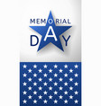memorial day background emblem and part of us flag vector image