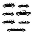 Cars silhouettes collection vector image