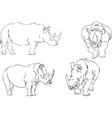 illustration sketch of rhino vector image vector image