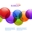 colourful bubble background vector image