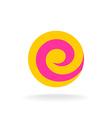 Letter E colorful logo template Lollipop concept vector image