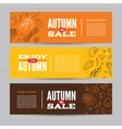 Set of banners with organic vegetables vector image