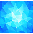 Abstract triangles ice background vector image