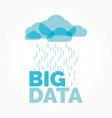big data cloud vector image