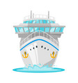 cruise ship - front view vector image