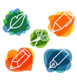 Different education silhouette icons collection vector image