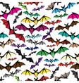Halloween bat seamless pattern vector image