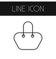 isolated bag outline handbag element can vector image