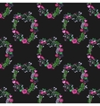 Seamless watercolor pattern with gorgeus flower vector image