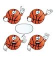 Smiling basketball set vector image