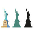 statue of liberty in color and black vector image