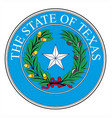 texas state seal vector image