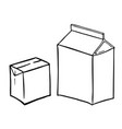 two paperboard boxs vector image
