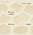 various american waffles pattern vector image