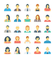 People Avatars Colored Icons 1 vector image