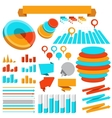 Infographics elements collection vector image vector image