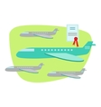 Air And Plane Travel Protected By Insurance vector image