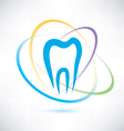 tooth protection abstract symbol vector image vector image