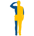 Swedish Salute vector image