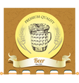 Banner with mug of beer vector image vector image