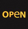 Open retail design vector image vector image