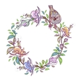 Floral Frame with bird Wreath perfect for vector image