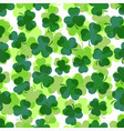 seamless - green shamrocks vector image