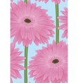 seamless background with pink gerbera flower vector image