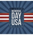 Memorial Day Usa Holiday Sign vector image