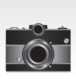 Retro black camera vector image
