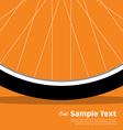 Bike Poster Wheel vector image