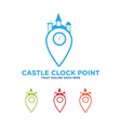 Castle Clock Kingdom Logo vector image
