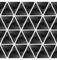 Design seamless monochrome triangle pattern vector image