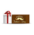 fathers day greeting card design vector image
