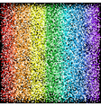 Rainbow sparkles glitter texture Black background vector image