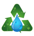recycling symbol vector image